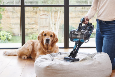 VAX ONEPWR Blade 4 Pet - Mini Motorised Pet Tool On Dog Bed